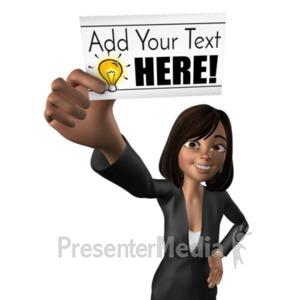 ID# 20924 - Talia Holding Blank Card - Presentation Clipart