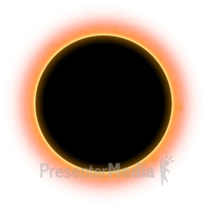 ID# 20934 - Solar Eclispe Sky - Presentation Clipart