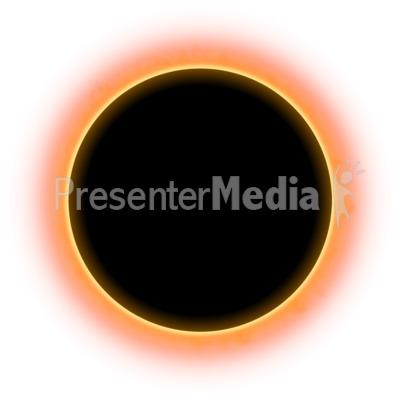 Solar Eclispe Sky PowerPoint Clip Art