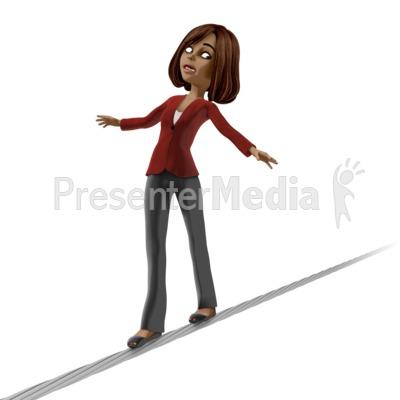 Talia On Tight Rope PowerPoint Clip Art