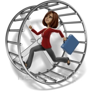 ID# 20952 - Talia Running Hamster Wheel - Presentation Clipart