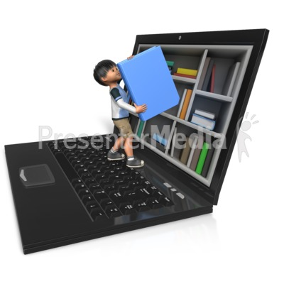 James Reaching For Book PowerPoint Clip Art