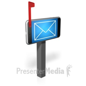 ID# 20978 - Cell Phone Mailbox - Presentation Clipart