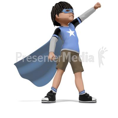 Boy Super Hero PowerPoint Clip Art