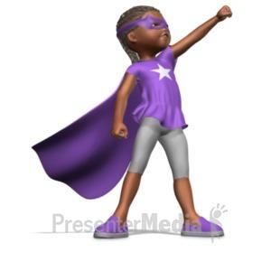 ID# 20985 - Girl Superhero - Presentation Clipart