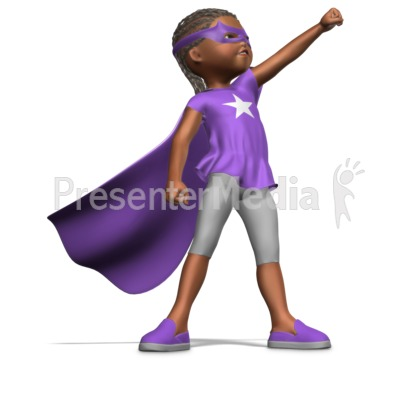 Girl Superhero PowerPoint Clip Art
