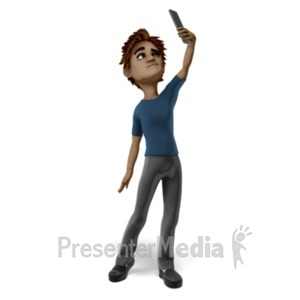 ID# 21012 - Tom Searching For Service - Presentation Clipart