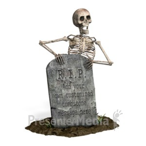 ID# 21063 - Skeleton Grave Custom - Presentation Clipart