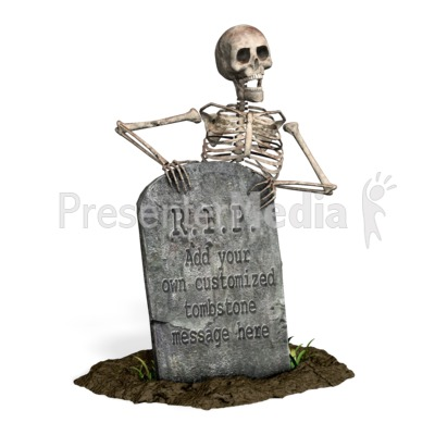 Skeleton Grave Custom PowerPoint Clip Art
