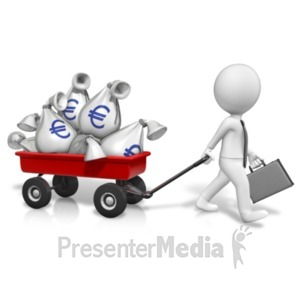 ID# 21073 - Wagon Full Of Euros - Presentation Clipart