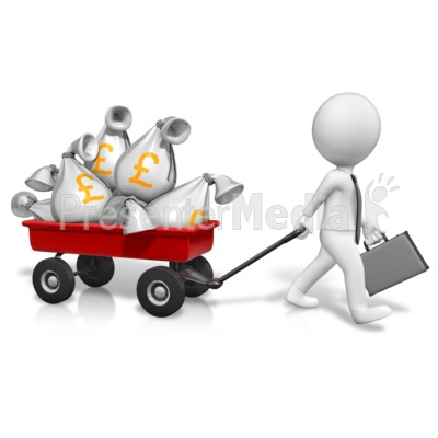Wagon Full Of Pounds PowerPoint Clip Art