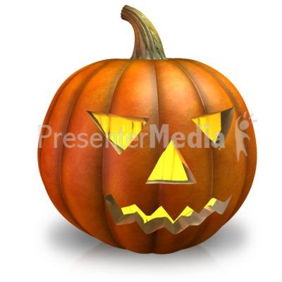 Simple Pumpkin Light PowerPoint Clip Art