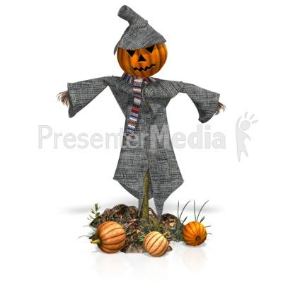 Scarecrow Pumpkins PowerPoint Clip Art