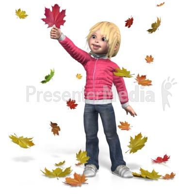 Autumn Sally Play PowerPoint Clip Art
