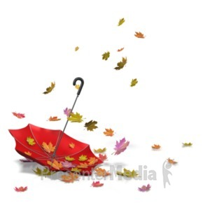 ID# 21132 - Autumn Leaves Umbrella - Presentation Clipart