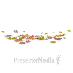 ID# 21139 - Fallen Autumn Leaves - Presentation Clipart
