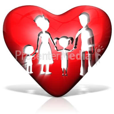 Family In Heart Presentation clipart