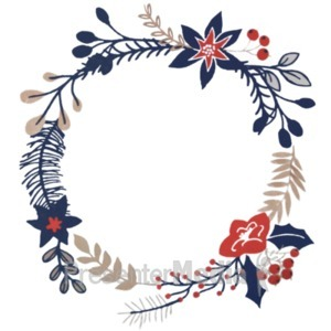 ID# 21236 - Christmas Branch Design - Presentation Clipart