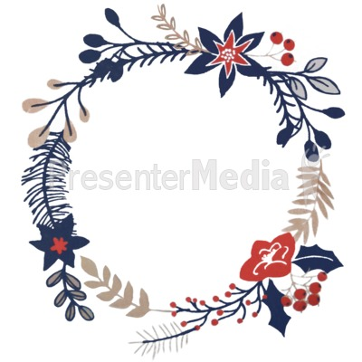 Christmas Branch Design PowerPoint Clip Art