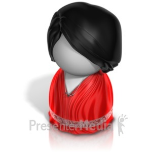 ID# 21239 - Woman Pawn Evening Gown - Presentation Clipart