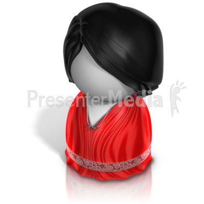 Woman Pawn Evening Gown PowerPoint Clip Art