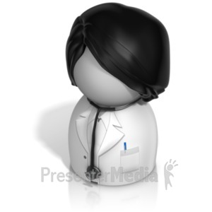 ID# 21241 - Woman Doctor Pawn - Presentation Clipart
