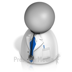 ID# 21242 - Male Doctor Pawn - Presentation Clipart