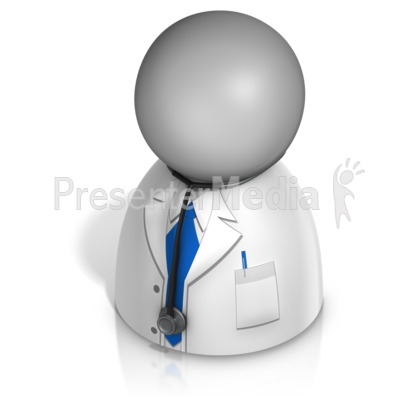 Male Doctor Pawn PowerPoint Clip Art