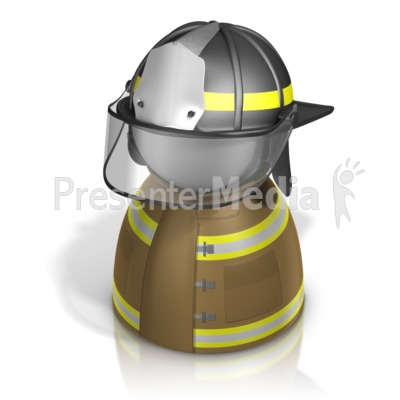 Firefighter Pawn PowerPoint Clip Art