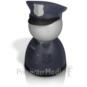 ID# 21245 - Police Officer Pawn - Presentation Clipart