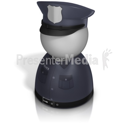 Police Officer Pawn PowerPoint Clip Art
