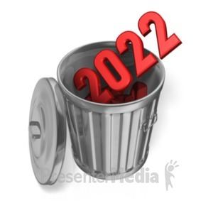 ID# 21288 - Last Year Garbage Can Custom - Presentation Clipart