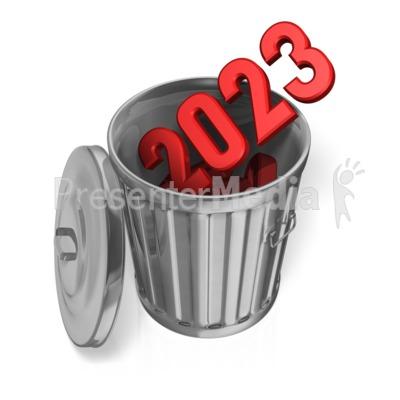 Last Year Garbage Can Custom PowerPoint Clip Art