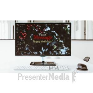 ID# 21290 - Festive Monitor - Presentation Clipart