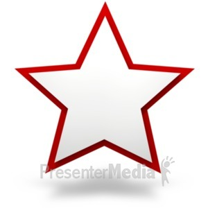 ID# 21294 - Plain Two Tier Star - Presentation Clipart