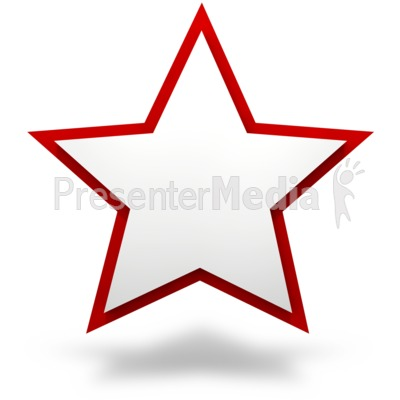 Plain Two Tier Star PowerPoint Clip Art