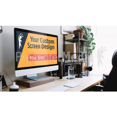Home Office Computer Custom Presentation clipart