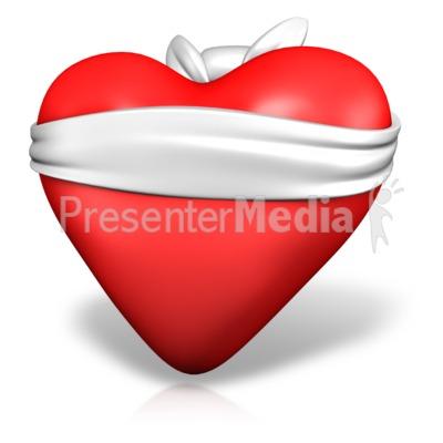 Love Is Blind Heart PowerPoint Clip Art