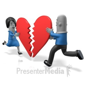 ID# 21332 - Biz People Heart Pieces - Presentation Clipart
