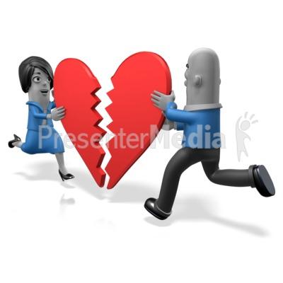 Biz People Heart Pieces PowerPoint Clip Art