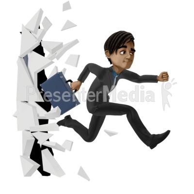 Break Through Biz PowerPoint Clip Art