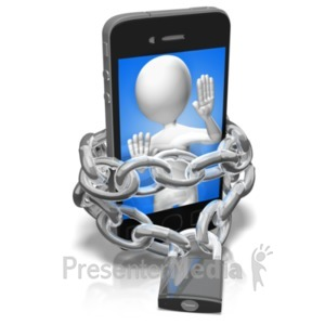 ID# 21404 - Chains Of A Phone Addict - Presentation Clipart