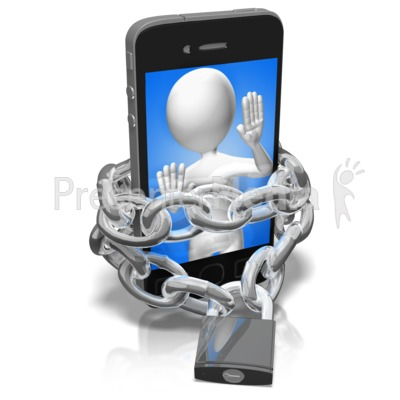 Chains Of A Phone Addict PowerPoint Clip Art