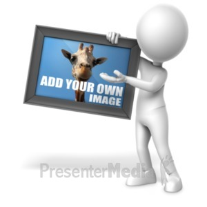 ID# 21416 - Figure Holding Picture - Presentation Clipart