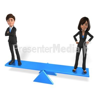 Man Woman Equal Balance PowerPoint Clip Art