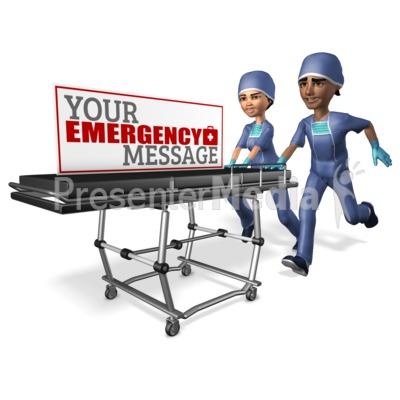 Team Pushing Gurney Custom Presentation clipart