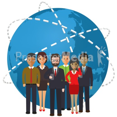 World People Connection PowerPoint Clip Art
