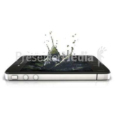 Phone Splash PowerPoint Clip Art