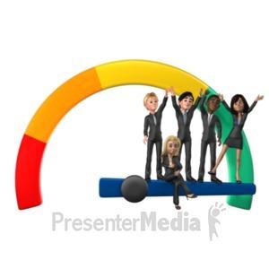 ID# 21489 - Full Success Gauge - Presentation Clipart