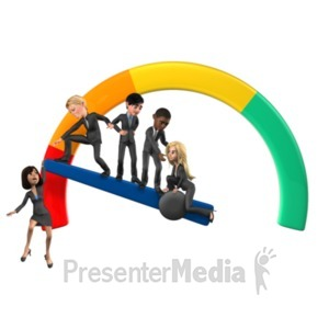 ID# 21500 - Unsuccessful Gauge - Presentation Clipart